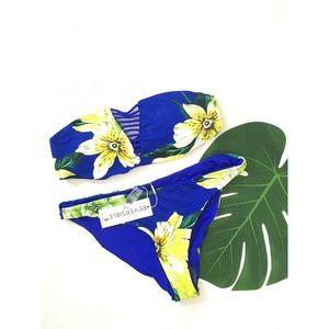Two piece floral bikini